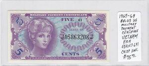 Paper Money - Military Payment Cert. - Series 641 - 1965 - 5 Cents - Crisp UNC