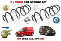 FOR FIAT DOBLO VAN MPV 1.4 1.3D MULTIJET 2010->NEW 2X FRONT COIL SPRINGS SET