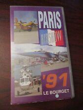 Paris Airshow 1991 Le Bourget    VHS Video Tape (NEW)