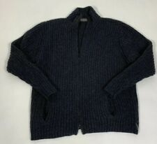 Fisherman Out Of Ireland Pullover Mens Sweater 1/2 Zipped Dark Charcoal Grey