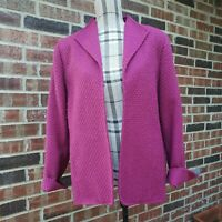 Alfred Dunner Open Front Jacket Blazer Womens Size 12 Dressy Career Work Classic
