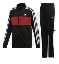 Adidas  Girls Red & Black Tracksuit Set Aged 12-13 Years BNWT
