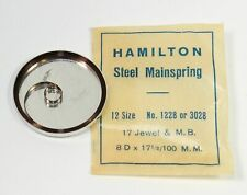 Hamilton 12 Size Pocket Watch Steel Mainspring NOS No. 1228 or 3028 - Tb744