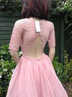 Lace  Mesh Scalloped Back Prom Party Dress  By John Zack Petite