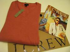 NWT. J. CREW SLIM RUGGED COTTON V-NECK SWEATER Size Medium hthr rouge