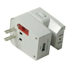 World Travel Electrical Plug Adapter Accessory Built-in USB Outlet