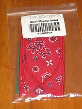 Longaberger Summertime Backyard Bandana Medium Basket Handle Tie Nib Usa