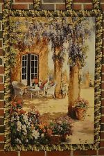 "28"" x 47"" Festive Country Rustic Woven Spring Party Tapestry Wall Hanging Decor"