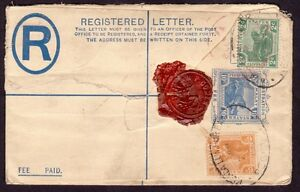 /FMS 1921 uprated 10c PSRE Isc3 Registered COVER Kuala Lumpur to USA @FC264