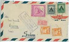 FLOWERS - POSTAL HISTORY  COLOMBIA : COVER to SWITZERLAND 1951