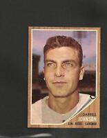 1915* 1962 Topps # 16 Darrell Johnson NM