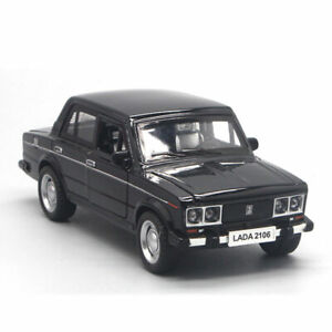 1:32 Scale VAZ Lada 2106 Model Car Diecast Gift Toy Vehicle Pull Back Kids Black