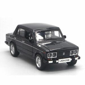 1:32 Scale VAZ Lada 2106 Model Car Diecast Gift Toy Vehicle Pull Back Kids Black