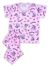 Girls Baby/Toddler Pink Pampered Kitty Print Pajama Set Sleepwear, S (3T-4T)