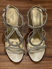 SHOES Unforgettable Moments Champagne Rhinestone wedding/prom/formal bling Sz 9