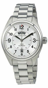 Hamilton Khaki Field Day Date Automatic Steel Silver Dial Mens Watch H70505153