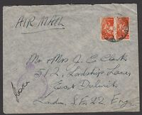 South Africa 1943 cover sent airmail to England from serviceman