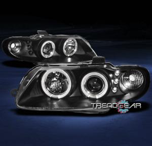 2004 2005 2006 PONTIAC GTO DUAL HALO LED PROJECTOR HEADLIGHTS BLACK COUPE 2DR V8