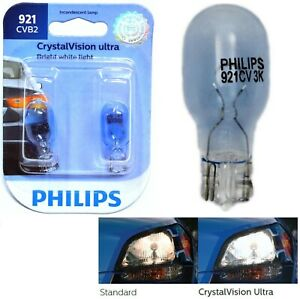 Philips Crystal Vision Ultra 921 16W Two Bulbs Rear Turn Signal Light Replace OE
