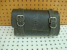 Vintage Motorcycle Black Leather Tool Bag