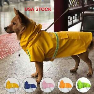 Microseven Dog Raincoat Waterproof Outdoor pet Doggie Rain Coat Rainwear Clothes