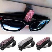 Fashion Car Vehicle Sun Visor Sunglasses Eyeglasses Card Drill-mounted Holder