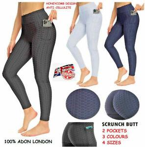 Women Anti-Cellulite Yoga Pants Push Up Tik Tok Leggings Bum Butt Lift Sport Gym