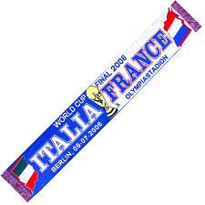 SCIARPA ITALIA FRANCIA Finale Coppa del Mondo 2006 no bandiera maglietta ...