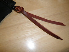 "BURGUNDY LEATHER ZIPPER PULL TAB 1/4"" X 12"" FOR JACKETS, PURSES ETC. ETC."