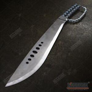 "20.5"" Steampunk Machete Sword Camping Hunting Tactical Survival Kit Item"