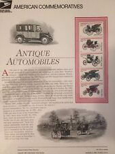 USPS COMMEMORATIVE COLLECTIBLE STAMP PANELS #476 11/3/95  ANTIQUE AUTOMOBILES