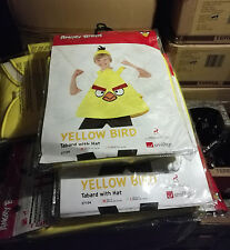 6 x Wholesale Joblot Smiffy's Angry Bird Kids Fancy Dress Costume Yellow