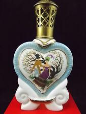 LAMPE BERGER ANCIENNE EN PORCELAINE DE COULEUVRE FORME COEUR SIGNEE JEAN TILLAUD