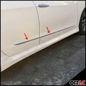 Fits Toyota Corolla iM 2017-2018 Chrome Side Door Trim Cover S.Steel 4 Pcs