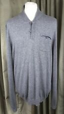 "Ted Baker Grey Wool/Cashmere Grey Button Jumper C44"" EXCELLENT CONDITION"