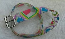 Heart Belt Clear plastic with metal buckle Hippie preowned Costume party
