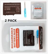 Dos (2) Destornillador + Batería Recargable Para Nintendo Ds Lite 3.7 V 2000 mAh Nuevo