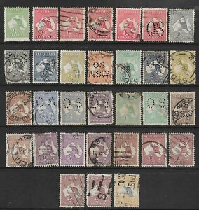 ROOS - CLEARANCE of 34 issues to 5/- (Various watermarks) (CV $1,000)