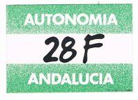 PEGATINA AUTONOMÍA 28 F ANDALUCÍA POLÍTICA