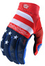 TROY LEE DESIGNS TLD MENS RWB RED WHITE BLUE MTB CYCLING AIR GLOVES size LARGE