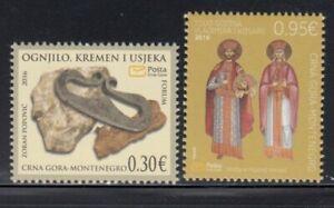 MONTENEGRO Ogniljo (Fire Steel) & King Vladimir and Kosara MNH set