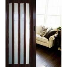 Dynasty Pecan Concertina Platinum Folding GLAZED Sliding Door PVC Effect 6mm