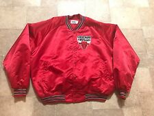 Vintage NBA 1980's Chalk Line Satin CHICAGO BULLS Jacket 2XL XXL W/Sewn BULLS