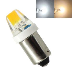 2x/10x BA9S T4W 6253 1895 182 1445 1W Car Bulb COB0705 DC12V LED Light Silicone