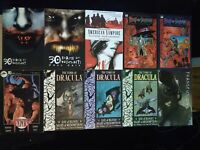 Lot of 10 Vampire Graphic Novels, 30 Days of Night, Tomb of Dracula, Transfusion