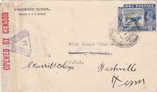 Censored cover, Burma to Illinois & fwd to Tennessee, 1942