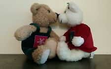 Hallmark Kiss Kiss Teddy Bears Christmas Holiday Magnetic Plush Stuffed Animal