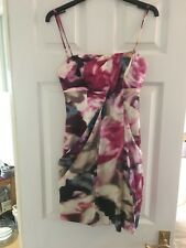 New Karen Millen Rose Print Strapless Dress - UK 6 - RRP £175