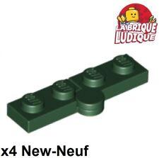 Lego 2429c01-4x Charnières Hinge Plate 1x4 swivel top NEW Noir Black