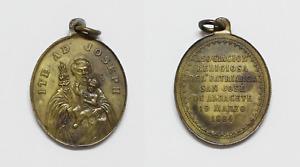 Antique Medal Association of The Patriarch Saint Jose Albacete, Year 1884